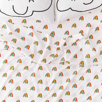 Jarmél By Jarmel For UO Rainbow Sheet Set | Urban Outfitters