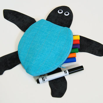 Sea Turtle Toy Bag by MinneBites / Leatherback by minnebites