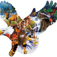 Forest Eagle 1000pc Shaped Jigsaw Puzzle