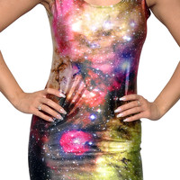 Galaxy Sleeveless Mini Dress Design 3072