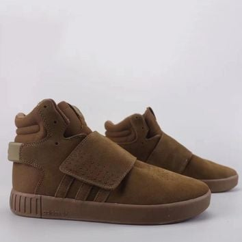 Adidas Tubular Invader Strap Fashion Casual High-Top Old Skool Shoes-5