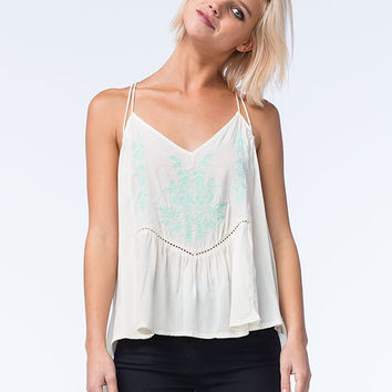 O'neill Clementine Womens Woven Tank White  In Sizes