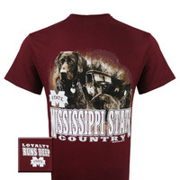 MSU Mississippi State Bulldogs Loyalty Runs Deep Dog Country Unisex Bright T Shirt