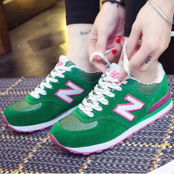 New Balance All-match leisure sports N-character A-Gump running shoes Green