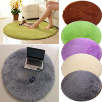 5 Color Soft Memory Foam Bath Mat Absorbent Non-slip Bathroom/Living Room Floor Mats Stylish Rug Fluffy Round Door Carpet 40CM