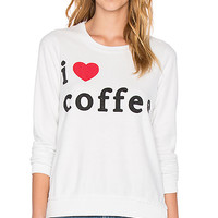 Chaser I Heater Coffee Graphic Tee in Salt