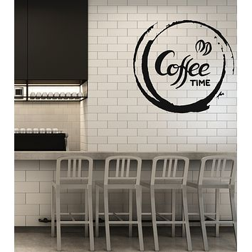 Vinyl Decal Wall Sticker Coffee Time Decor Kitchen Cafe Home Interior (g038)