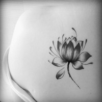 5pcs Black Waterproof Lotus Flower Tattoo Stickers Floral Temporary Body Art Tattoo