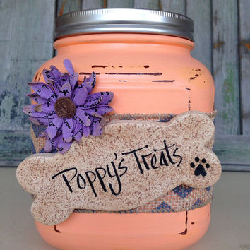 Animal Treat Jar, Dog Treat Jar, Animal Treats