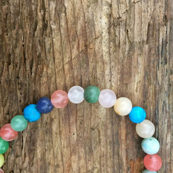 Colorful Bracelet with Natural Stones