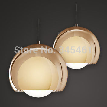 Arrival - 1Pc Glass Pendant Lamp Single Head Bar Hanging Light 3 Options Artistic Personality Led Indoor Pendant Lamps