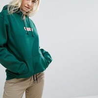 Obey Overised Hoodie With Front Logo at asos.com