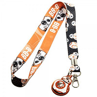Star Wars 7 BB8 Lanyard Key Chain