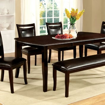 Furniture of america CM3024T-6PC 6 pc woodside dark cherry wood finish dining table set with bench