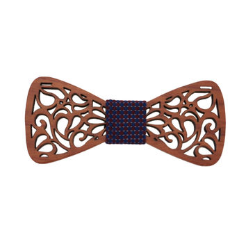 Classic Hollow Wood Butterfly Shape Bow Tie