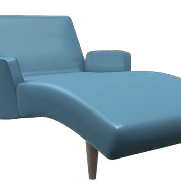 Olympic Leather Chaise Lounge by Lazar Industries