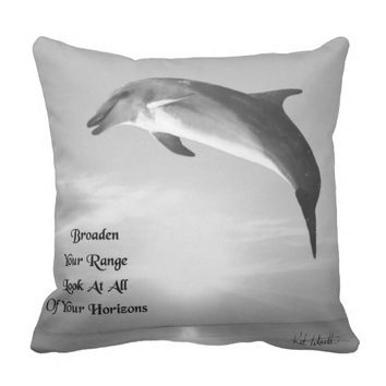 Horizons Quote by Kat Worth Throw Pillow