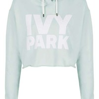 Cropped Logo Detailed Hoodie by Ivy Park - Tops - Clothing