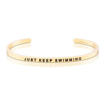 Mantraband Just Keep Swimming Bangle Bracelet