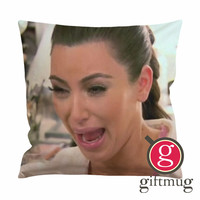 Kim Kardashian Ugly Face Cry Cushion Case / Pillow Case
