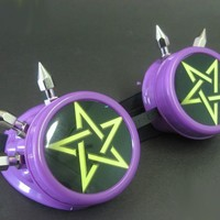 Cyber Goggles - Purple Pentacle/Pentagram w/Spikes :: VampireFreaks Store :: Gothic Clothing, Cyber-goth, punk, metal, alternative, rave, freak fashions
