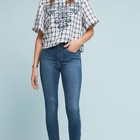 Embroidered Gingham Top
