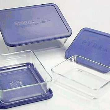 Pyrex Simply Store 6-Piece Rectangular Glass Food Storage Set