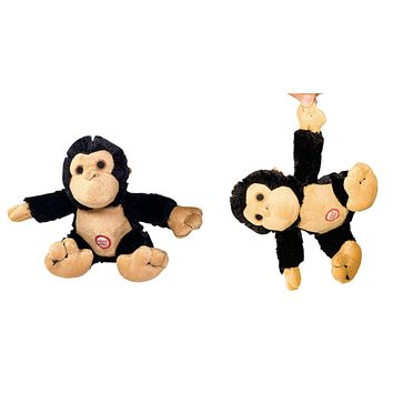 Pet Qwerks Yipping Monkey with Electronic Sound Animal Stuffed Plush Dog Toy