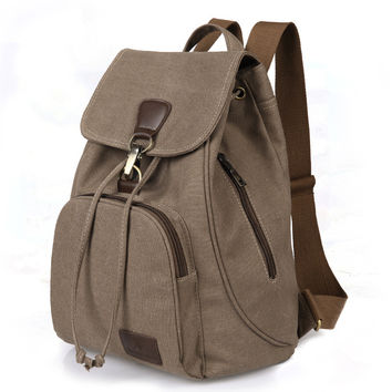 On Sale Hot Deal Comfort College Casual Back To School Vintage Outdoors Canvas Stylish Backpack [8384115207]