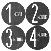 Baby Boy Monthly Milestone Age Stickers Style #1035