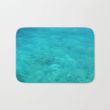 Bath Mat -  Two sizes, Bathroom, Home, Pattern, Boho, Hippie, Water, Reflections, Blue, Turquoise, Dorm, Decor, Relax, Gift, Girl, Romantic