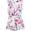 Floral Sleeveless V-neck High Waist Pleated Romper