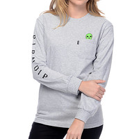 RipNDip Lord Alien Heather Grey Long Sleeve T-Shirt