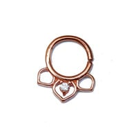 nose ring, Silver nose ring, Body jewelry, Septum piercing, Gold nose ring.