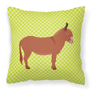 Irish Donkey Green Fabric Decorative Pillow BB7674PW1818