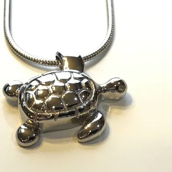Turtle Urn, Cremation Necklace, Pet Urn, Turtle Locket, Ashes Holder Necklace, Cremation Locket, Memory Locket, Cremation Jewelry