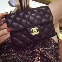 CHANEL Fashion Shopping Leather Metal Chain Crossbody Shoulder Bag For Women