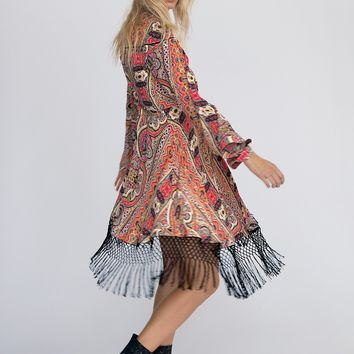 Free People Cactus Rose Mini Dress