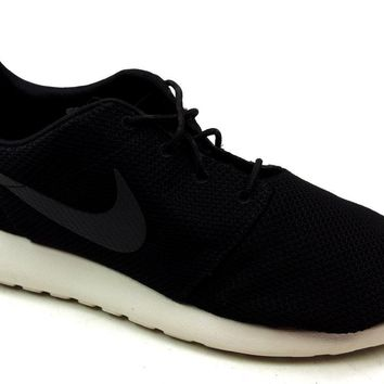 Mens Nike Roshe Run Black Casual Outdoor Running Shoes Sports Trainers Size  12 891878260