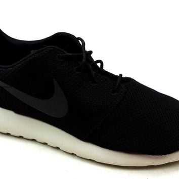 Mens Nike Roshe Run Black Casual Outdoor Running Shoes Sports Trainers Size  12 c05dae9b29