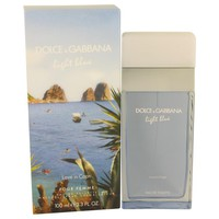 Light Blue Love in Capri by Dolce & Gabbana Eau De Toilette Spray 3.4 oz