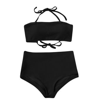 Two Color Women Bikini Set Push Up Bikini Bralette Swimwear Cheeky Bikini Bottom Swimsuit