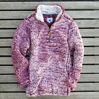 The Victoria Sherpa Pullover in Burgundy by Nordic Fleece