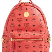 MCM 'Small Stark' Side Stud Backpack - Red