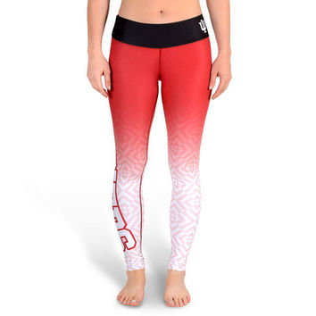 Indiana Hoosiers Womens Official NCAA Gradient Print Leggings