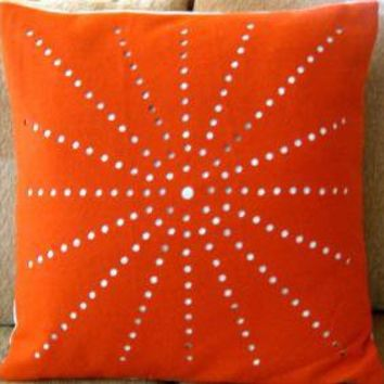 modern dandelion pillow cover by pillowhappy on Etsy