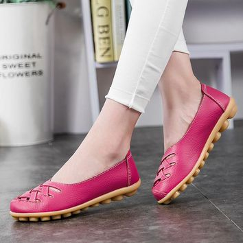 KUIDFAR Women Flats New Women Shoes Fashion Solid Soft Loafers Summer Women Casual Flat Shoes 13 Color