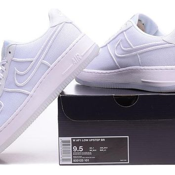 Nike Air Force 1 Low Upstep Br White For Women Men Running Sport Casual Shoes Sneakers