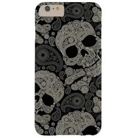 Sugar Skull Crossbones Pattern iPhone 6 Plus Case