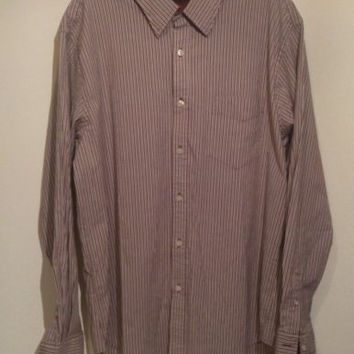 Dockers Mens long sleeve buttoned pinstripe shirt. XL